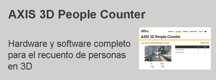 AXIS 3D People Counter